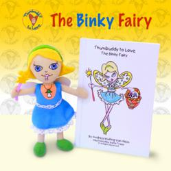 Binky Fairy comes with hard back book and finger puppet to help wean children from their pacifier.