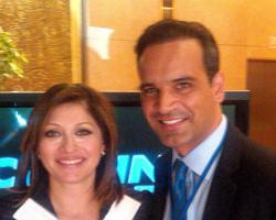 Frank Caprio, of Chatham Capital, at the Milken Conference with Maria Bartiromo of CNBC