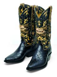 Tony Lama's El Rey IV $50,000 boots.