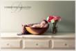 Newborn in Wooden Bowl by NJ Newborn Photographer Christine DeSavino