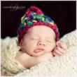 Newborn in Red Knit Hat by NJ Baby Photographer
