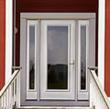 Therma-Tru fiberglass entry door with Tru-Defense components.