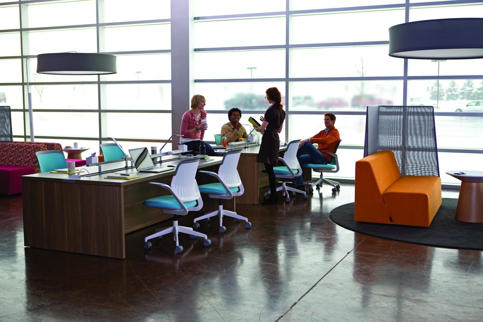 Steelcase brand turnstone brings office furniture to san for Small company office design