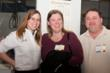 Liz Rowe, digital intake specialist, Braintree Printing, with Linda Grace and Brian Grace, owners of Belmont Printing.