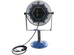 16 inch diameter LED lighthead with integrated handle and copper free spun aluminum base