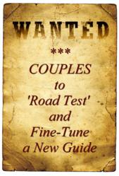 Couples Wanted to Road Test and Fine-Tune a New Guide