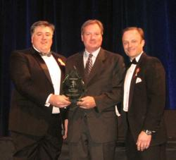Mark Boxberger and Rob Vaughan Accept PolicyStat Award