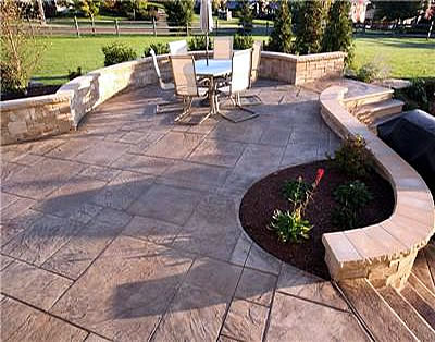 Captivating Patio Walls Ideas Seating Wall Alignment Ideas Concrete Seat  Walls Were Used To Accessorize This