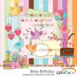 Birdy Birthday Digital Elements and Papers