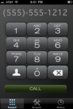 PhoneTap's dialer screen