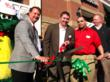 Ribbon Cutting ceremony.  From left to right:  Chris Pyne, Harris Teeter District Manager and Bret Poole, Store Manager of Olney Harris Teeter.