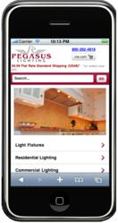 Pegasus Lighting Mobile Website