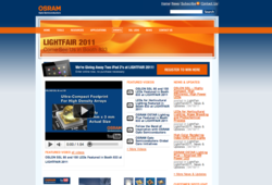 OSRAM Opto Semiconductors Virtual Tradeshow Website