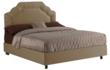 Shired Upholstered Border Bed by Skyline Furniture