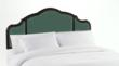 Curved Tufted Headboard in Carribean Espresso by Skyline Furniture
