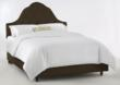 High Arch Upholstered Bed in Chocolate Skyline Furniture