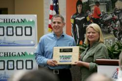 Michigan Secretary of State Ruth Johnson recognizes Farmers Insurance as motorcycle safety advocate