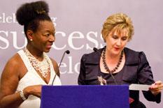 Fiona Murchie and Baroness Benjamin