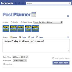 Post Planner Facebook application