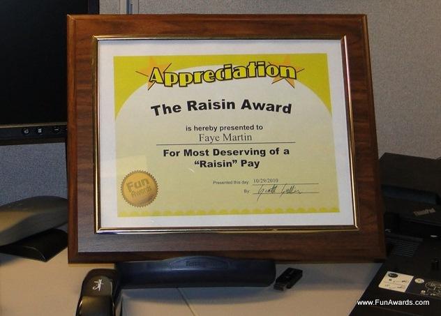 funny office awards. Funny Work Awards