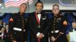 Philip Zepter, President and Founder of Zepter International, escorted by two United States Marine Guards moments after receiving the International Ellis Island Medal Of Honor 2011 award