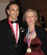 Medalist Philip Zepter next to Ms. Mira Zivkovich, 2004 Serbian/American medalist  at Ellis Island Medal of Honor Gala in the historical Registry Room of the Great Hall on Ellis Island