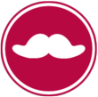 White Moustache Urban Adventure Co. Logo