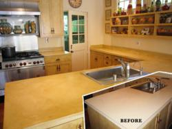 refinished resurfaces countertop