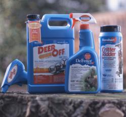 Deer Off, DeFence, Critter Ridder, Havahart animal repellents