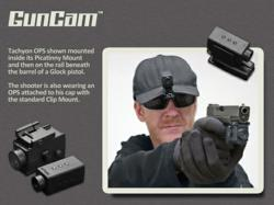 GunCam OPS mounted on Glock 22 with Picatinny rail mount