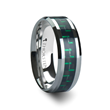 ATRONIUS Tungsten Carbide Wedding Band with Black & Green Carbon Fiber Inlay - 8mm
