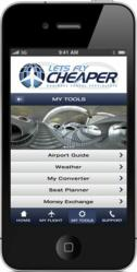 Lets Fly Cheaper has developed a free Iphone app stuffed with handy information for the business traveller