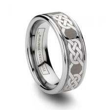 Gaelic Tungsten Celtic Ring