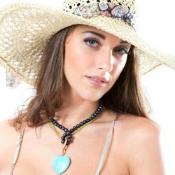 "Emma Blythe, best known as the ""Scottish Beauty"", is the new face of Orchira's summer pearl jewellery range"