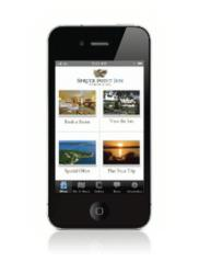 Welcome screen for Spruce Point Inn Smartstay app.