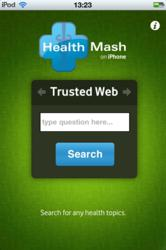 HealthMash app start screen