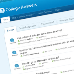 College Answers Screenshot