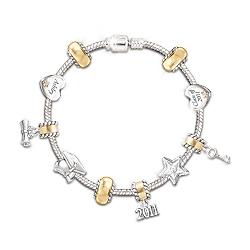 2011 Graduate Personalized Charm Bracelet