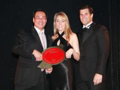 City of Addison, Mayor Joe Chow presents Consumers' Choice Award to Kevin & Katie Miller of TexasLending.com