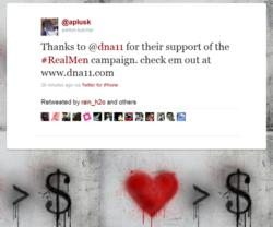 Ashton thanks DNA 11 for contribution to Real Men Campaign
