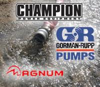 Champion Pumps, Gorman Rupp Pumps, and Magnum Pumps @ Water Pumps Direct