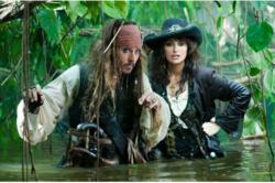 Johnny Depp and Penelope Cruz from Pirates of the Caribbean