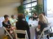 Diners inside the Lexus of Lexington dealership.