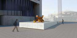 Rendering of Maryland's memorial honoring the state's 63 residents who perished on 9/11/01.