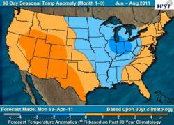 WSI US Weather Outlook June-August 2011