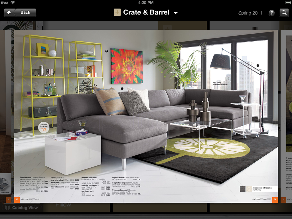 100 billion catalog shopping business re imagined for ipads by thefind Mr price home furniture catalogue 2011
