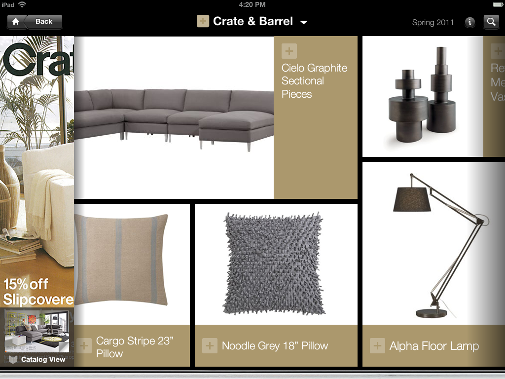 100 billion catalog shopping business re imagined for ipads by thefind. Black Bedroom Furniture Sets. Home Design Ideas