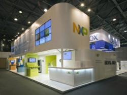 Double Deck Trade Show Exhibit Structure from Condit Exhibits & Kinet-X