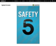 Safety5 Splash Screen