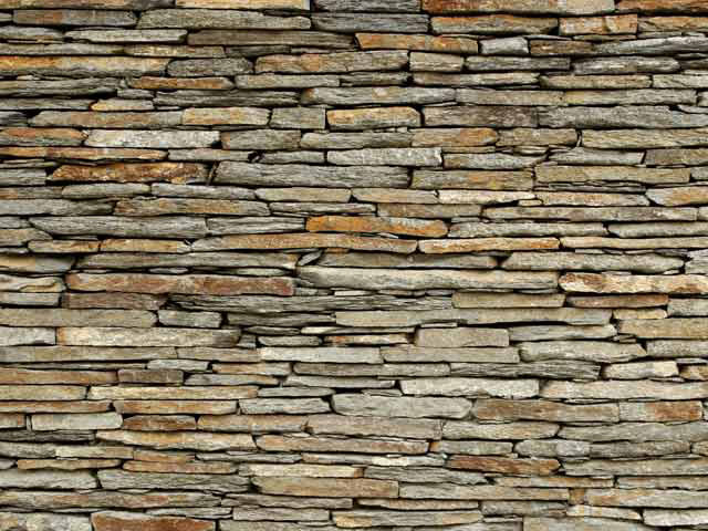 Rustic Stone Walls : Acoustifence landscape™ attachments add a fresh look to